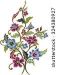 batik design with flower.