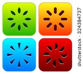 colorful rounded square icons ...