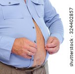 senior man with big fat stomach.... | Shutterstock . vector #324402857