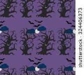 night dark trees seamless... | Shutterstock .eps vector #324406373
