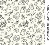 seamless pattern with fruits.... | Shutterstock .eps vector #324407897