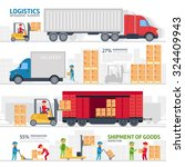 logistic infographic elements... | Shutterstock .eps vector #324409943
