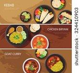 halal food web banner flat... | Shutterstock .eps vector #324410903
