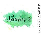 november month lettering... | Shutterstock .eps vector #324415853