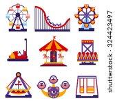 set of vector flat design... | Shutterstock .eps vector #324423497