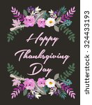 thanksgiving card | Shutterstock .eps vector #324433193