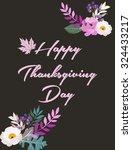 thanksgiving card | Shutterstock .eps vector #324433217