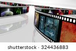 film reel with science fiction... | Shutterstock . vector #324436883