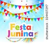 festa junina background vector...