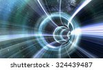wormhole tunnel. 3d rendering | Shutterstock . vector #324439487