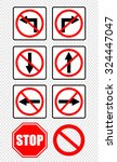 prohibition road signs | Shutterstock .eps vector #324447047