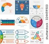 set 9 templates infographics... | Shutterstock .eps vector #324459503