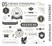 retro vintage typographic... | Shutterstock .eps vector #324462863