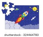 Jigsaw Puzzle Space Cartoon...