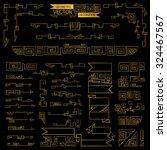 geometry decoration elements... | Shutterstock .eps vector #324467567