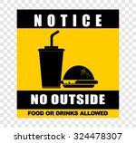 notice  no outside  sticker | Shutterstock .eps vector #324478307