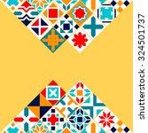 colorful geometric tiles...   Shutterstock .eps vector #324501737