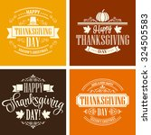 typographic thanksgiving design ... | Shutterstock .eps vector #324505583