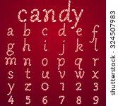 alphabet candy style vector art ... | Shutterstock .eps vector #324507983