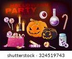 halloween. party on halloween.... | Shutterstock .eps vector #324519743