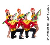 dancer team wearing a folk... | Shutterstock . vector #324526073