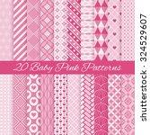 20 Baby Pink Seamless Patterns...
