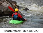 Kayaker Is Ready To Training O...