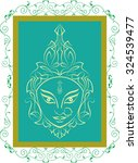 durga goddess of power vector... | Shutterstock .eps vector #324539477