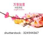 shoe shaped gold ingot  yuan... | Shutterstock . vector #324544367