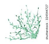 green plants  flowers | Shutterstock .eps vector #324544727