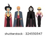 halloween characters with fairy ... | Shutterstock .eps vector #324550547