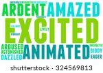 excited word cloud on a white... | Shutterstock .eps vector #324569813