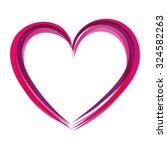 vector illustration valentines... | Shutterstock .eps vector #324582263