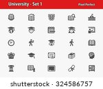 university icons. professional  ... | Shutterstock .eps vector #324586757