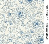 seamless floral pattern with... | Shutterstock .eps vector #324589103