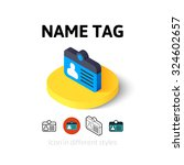 name tag icon  vector symbol in ...
