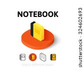 notebook icon  vector symbol in ...