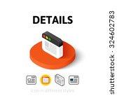 details icon  vector symbol in...