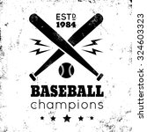 Logo For Baseball On Grunge...