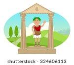 julius caesar   cartoon of... | Shutterstock .eps vector #324606113