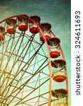 Vintage Retro Red Ferris Wheel...