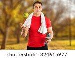 men exercising. | Shutterstock . vector #324615977