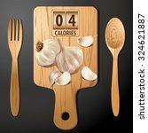 vector of calories in garlic | Shutterstock .eps vector #324621887