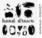 hand drawn monochrome texture... | Shutterstock .eps vector #324624377