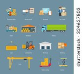 set of icons transport... | Shutterstock .eps vector #324627803