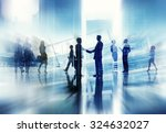 business people walking... | Shutterstock . vector #324632027