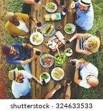friends friendship outdoor... | Shutterstock . vector #324633533