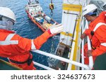 operator workers on offshore... | Shutterstock . vector #324637673