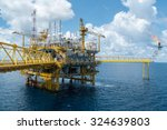 offshore oil and rig... | Shutterstock . vector #324639803