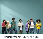 students learning education...   Shutterstock . vector #324640283
